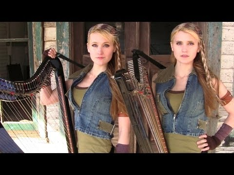 Two Ladies, On The Harp, Play The Walking Dead Theme Song