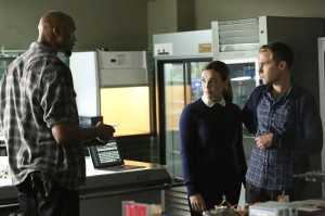 Mac, Fitz and Simmons talking